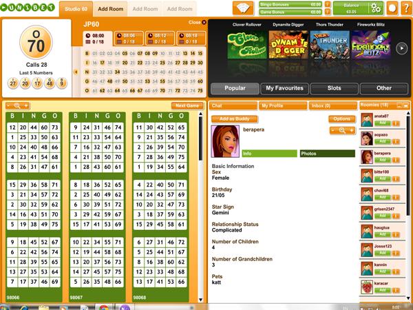 Unibet Bingo - Бинго лотерея
